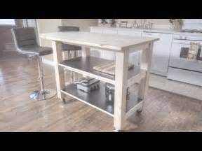 How To Build A Small Kitchen Island how to build a kitchen island on wheels youtube
