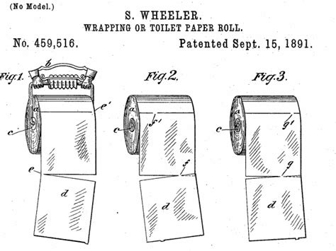 toilet paper proper way s wheeler s original patent for the toilet roll shows the