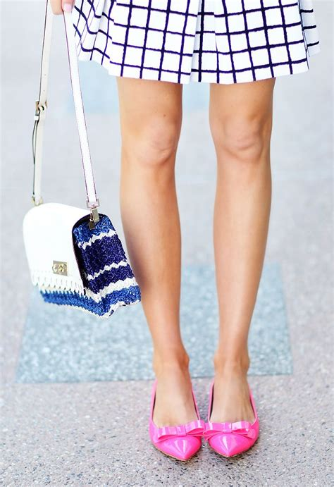 pink flat color pink and navy colors ivory lane accessories