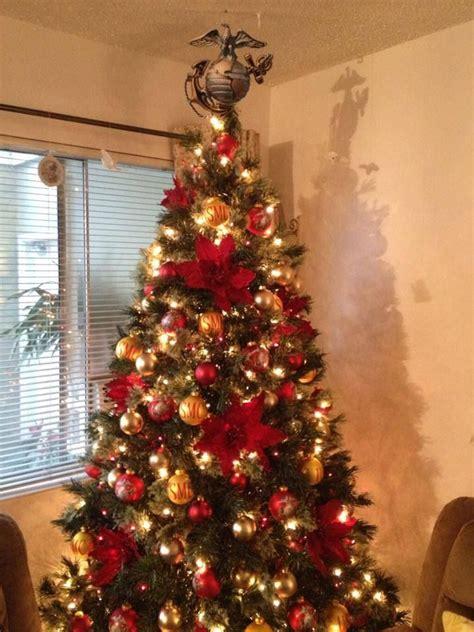 marine corp christmas tree ega  topper usmc christmas marine christmas marine corps