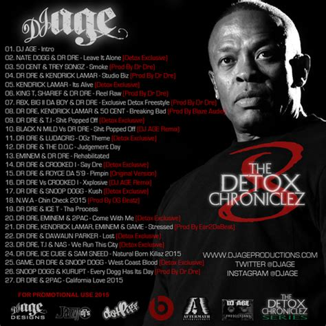 Detox Chroniclez Vol 8 dr dre the detox chroniclez vol 8 hosted by dj age