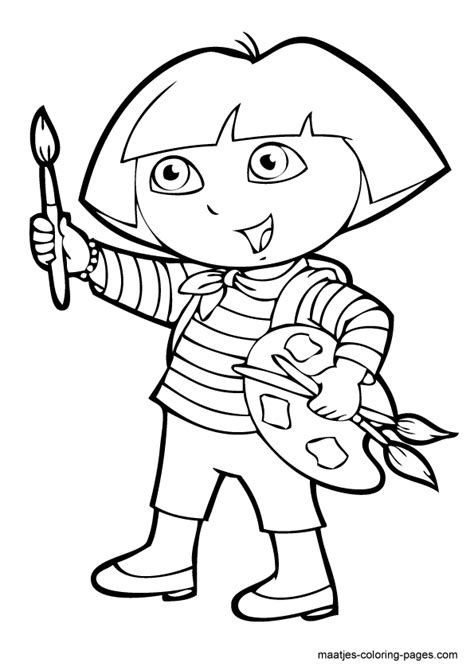 baby dora coloring pages how to draw home alone dora
