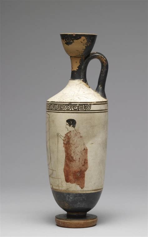 What Was The Lekythos Vase Used For by White Ground Lekythos Etruscan Pottery