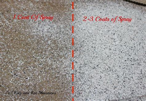 How To Paint Over Sand Textured Paint - kitty and kat miniatures stone paint a comparison