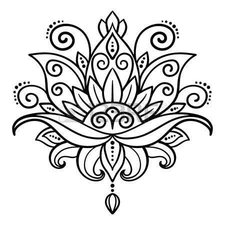 imagenes de flores hindu 60680362 vector extracto estilo oriental flor loto tatuaje