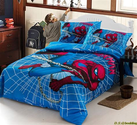 boys bedding full size 3pcs spiderman kids children boys bedding sets twin full