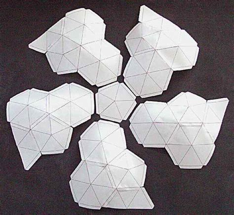 How To Make A Paper Geodesic Dome - geodesic dometemplate petal