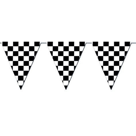 banner flag ultah mickey zigzag racing checkered flag pennant banner