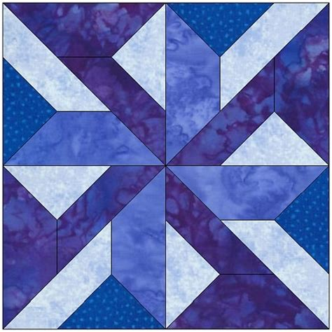Windmill Quilt Block Pattern by Pinwheel W Twist Quilt Block Pattern Feverishquilter
