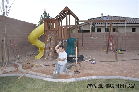 swing borders backyard landscaping ideas swing sets 187 backyard and yard