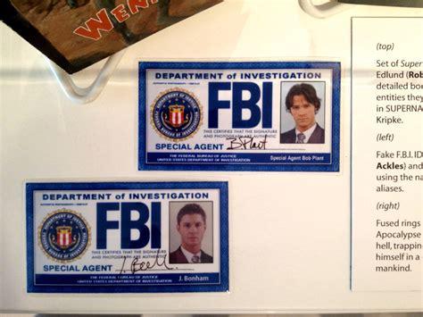 supernatural fbi id s