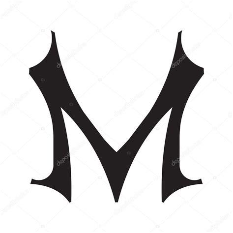 m styler la lettre m de style vintage image vectorielle 35934471