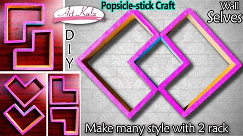 to stick photos on wall popsicle stick wall shelves wall decor popsicle stick