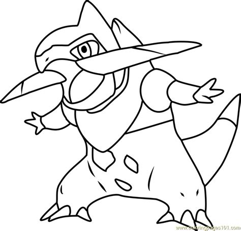 fraxure pokemon coloring page free pok 233 mon coloring