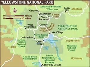 us map yellowstone directions to yellowstone national park national parks