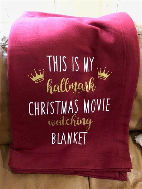 hallmark christmas  watching throw sofa couch bed fleece blanket soft warm fuzzy