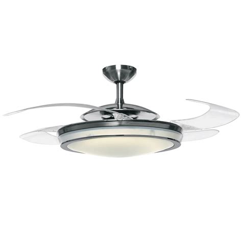 Retractable Ceiling by Fanaway Retractable Blade Ceiling Fan Polished Chrome