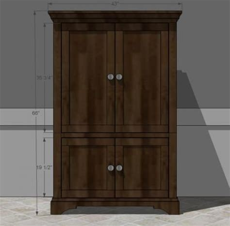 craft armoire plans 1000 images about how to build furniture on pinterest