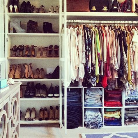Organized Wardrobe by Give Your Closet A Makeover Thefashionspot