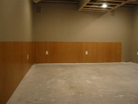 Basement Wainscoting Ideas My Basement Finishing Project Finished Wainscoting