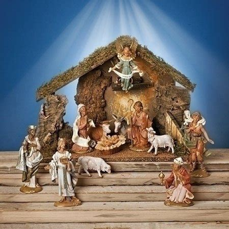 christmas stable walmart fontanini 12 italian nativity set with wooden stable 54107 italy walmart