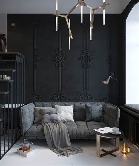 black wall designs 28 ideas for black wall interior styling