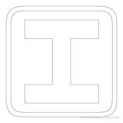 printable block letter stencils free printable stencils