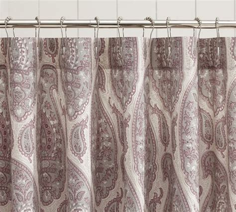 natural fiber shower curtain ashlyn paisley organic shower curtain pottery barn