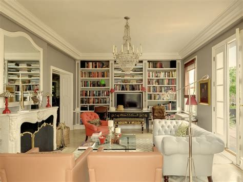Manhattan Living Room by Sutton Place Apartment Library Libraries