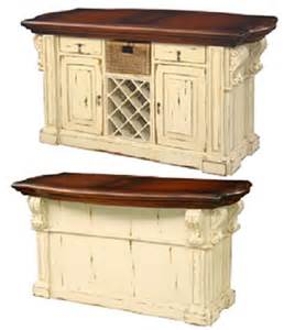 Antique Kitchen Islands Kitchen Island Cottage Antique Cream Distressed French
