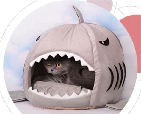 animal beds free shipping funny pet living shark mouth dog house cat bed big mouth soft cute animal bed s
