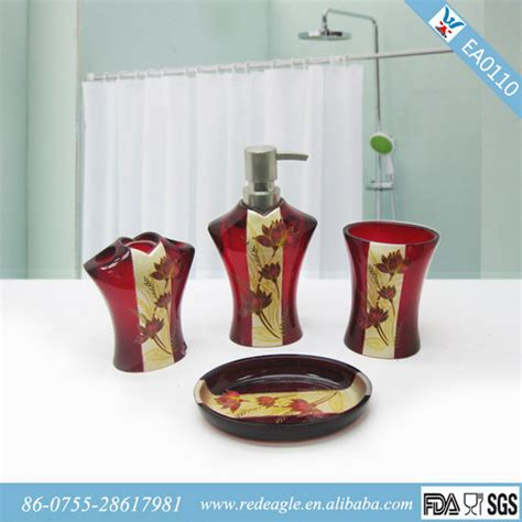 red and black bathroom accessories red bathroom accessories interior design