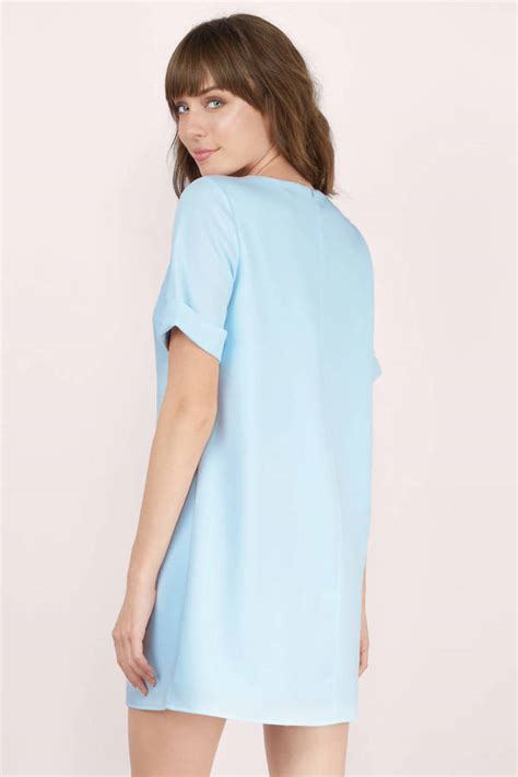 Light Blue Shift Dress by Light Blue Shift Dress Blue Dress Sleeve Dress