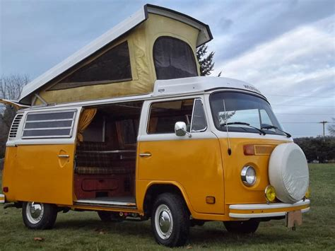 new volkswagen bus yellow 1976 westfalia cer van vw bus