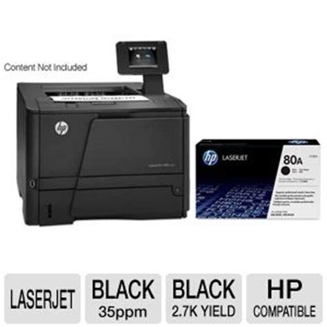 Toner Laserjet 80a hp laserjet pro 400 m401dn printer duplex 2 sided