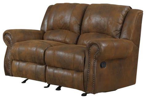 gliding recliner loveseat homelegance quinn glider reclining loveseat in