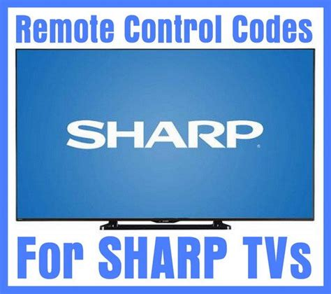Remot Tv Sharp Lcdledtabung 4 remote codes for sharp tvs codes for universal
