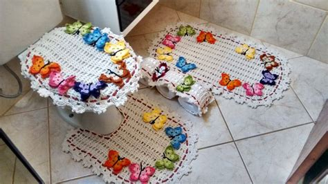 tapetes coloridos de croche jogos e amostra decoracao jogo de banheiro de croch 234 80 modelos dicas para