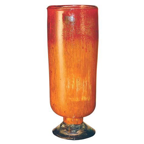 glass cylinder l base orange glow glass cylinder with base couleur