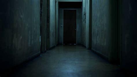 dark hallway 4k walking inside a long dark hallway of old apartment
