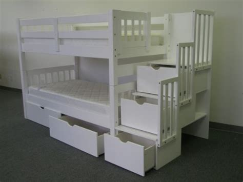 bunk bed with stairs and storage bunk beds with stairs and slides