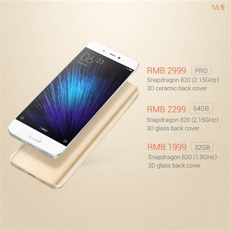 Xiaomi Mi5 Cars xiaomi mi5 official specs price and release date revealed