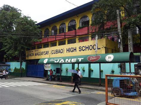 jose garcia west end secondary school ramon magsaysay cubao high school quezon city