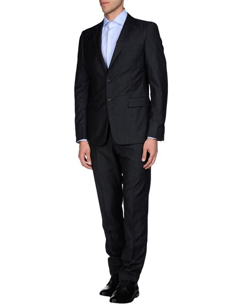 Overall Prada lyst prada suit in gray for