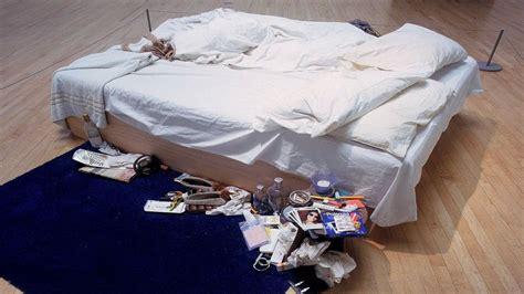 tracey emin bed mummies in blankets it s karin with an eye