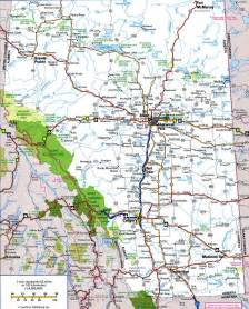 map with highways alberta