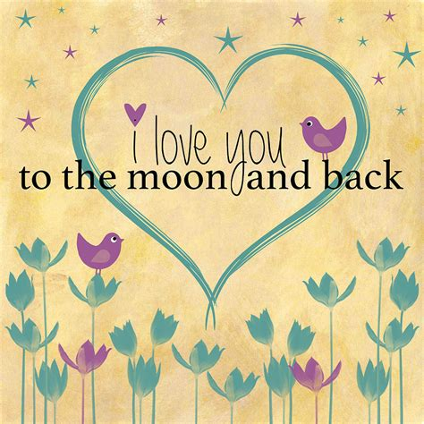 i love vintage i love you to the moon and back word art illustration