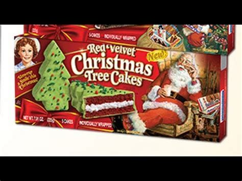 little debbie red velvet christmas tree cakes youtube
