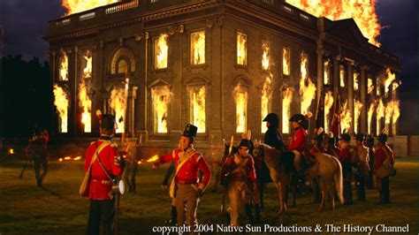 August 1814 British Forces Burn The White House And Capitol Force President Madison To Flee