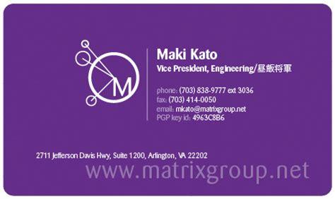 Business Card Address Format